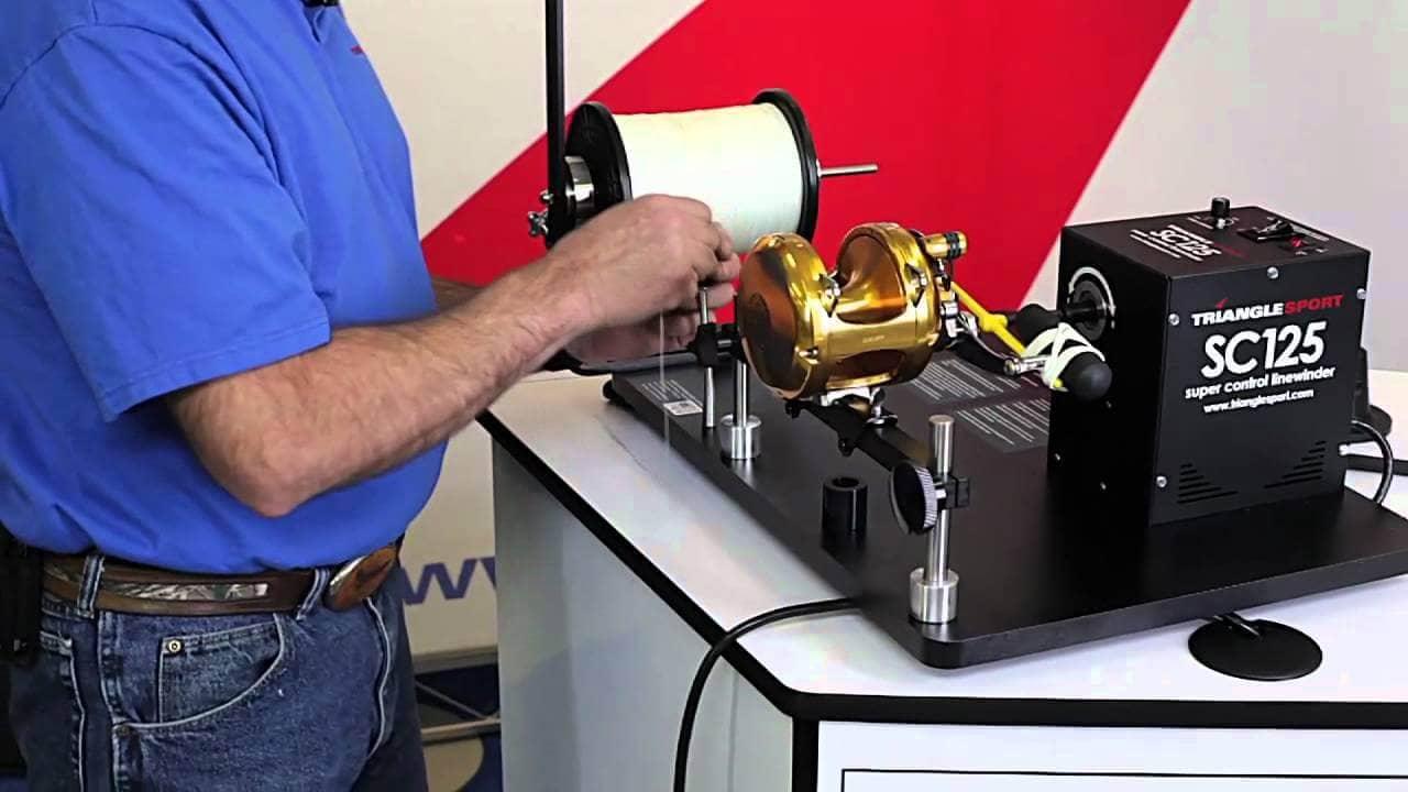 line spooling machine